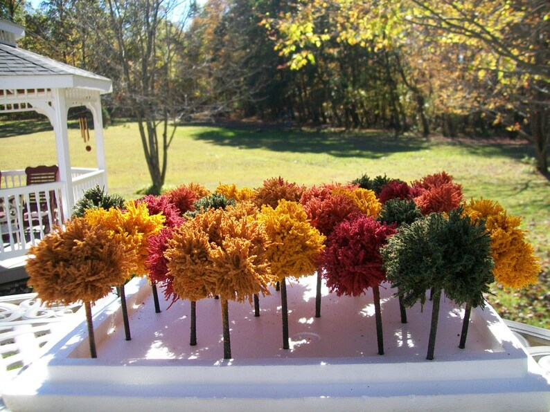 FALL & AUTUMN TREES / Doll Houses,Table Favors, Model Railroad, Scenery  Landscaping, Architecture Designing, Shadow Box, Craft Supplies