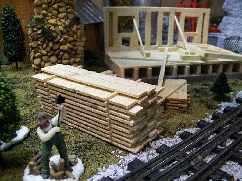 MINIATURE LUMBER PILE O Gauge // Sawmill Scenery // Wedding Tables / Kit  Building / Model Railroad O Gauge Layouts / Fairy Gardens