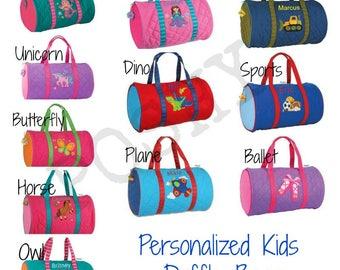 df82e959795a Kids duffle bag  Personalized kids duffle bag  Monogrammed kids Duffle bag  Stephen  Joseph   Boys duffle   Girls Duffle