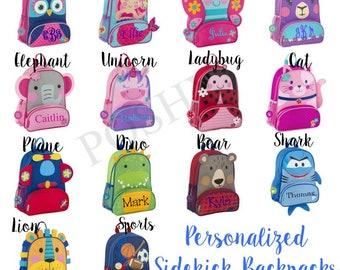 cb42ecbb3a2b Personalized Backpack Stephen Joseph Sidekicks Toddler Girls Boys
