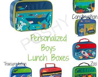 Monogrammed Stephen Joseph Classic Lunch Boxes / Children and Toddler Lunch Box / Personalized / Choose from 29 Patterns / Boys and Girls