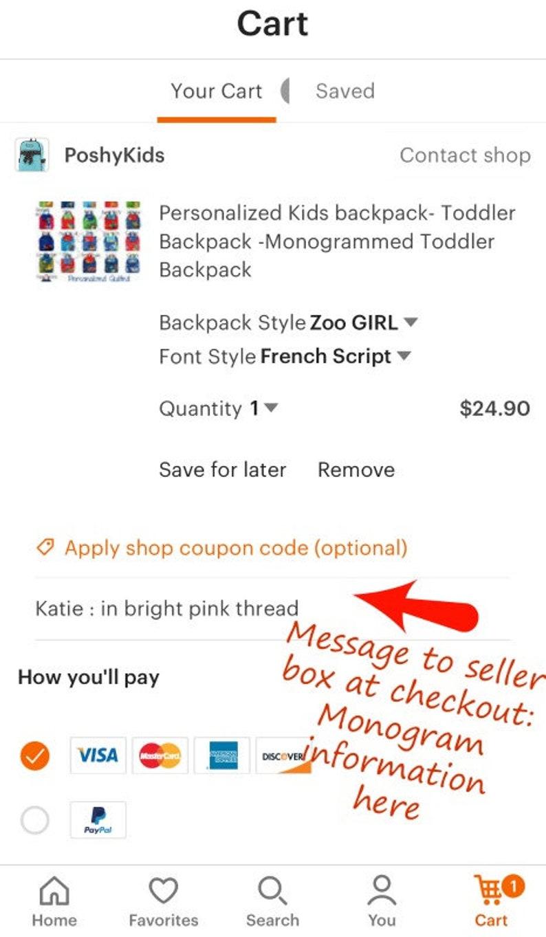 Personalized Backpack  Stephen Joseph Sidekicks Toddler Girls Boys