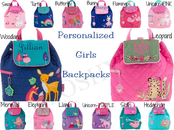 Personalized Embroidered Backpack  Stephen Joseph  Toddler  Little Kid Backpack  Sidekick Backpack  New Fall 2018
