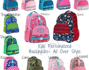 Personalized Kids Backpack / Monogrammed kids backpack / Girls backpack / boys backpack / All Over style backpack