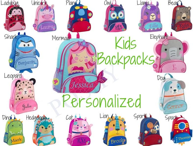Monogrammed Kids Backpack  Personalized Toddler Backpack image 0