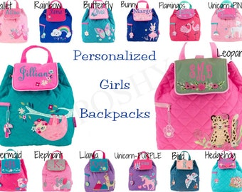 Personalized Toddler Backpack Quilted Boys backpack Girls Backpack