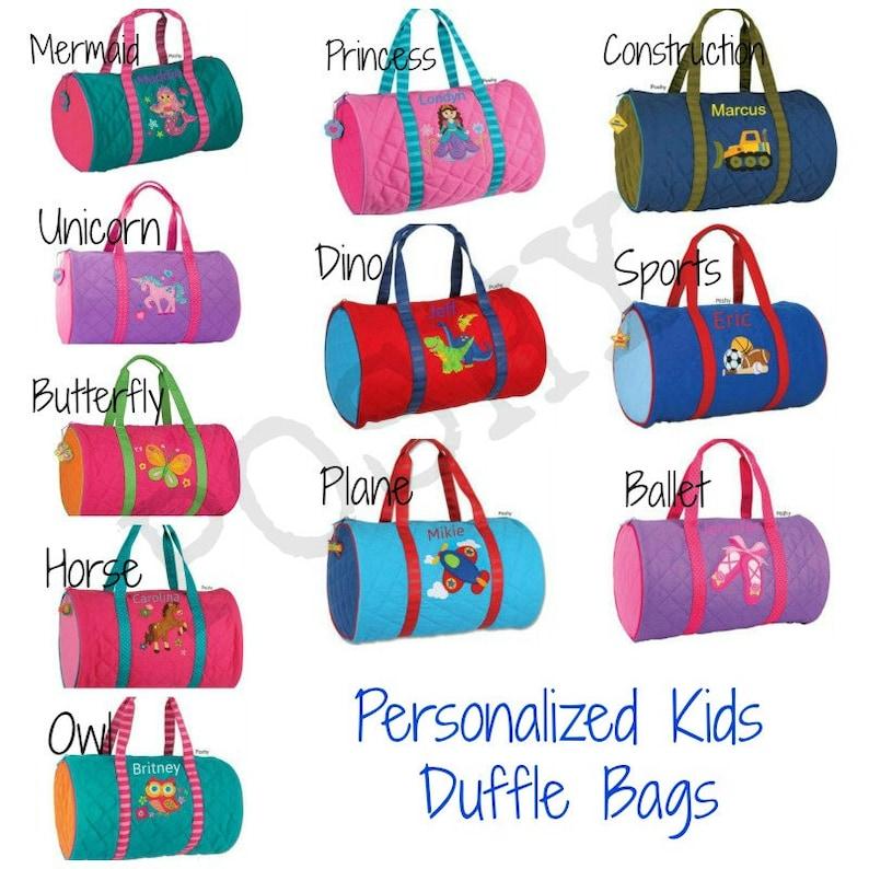 0a13ab09559d Kids duffle bag  Personalized kids duffle bag  Monogrammed