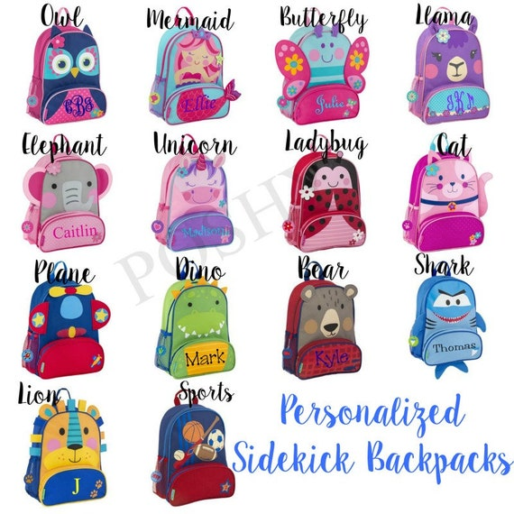 4ea6baa04c6 Monogrammed Kids Backpack Personalized Toddler Backpack   Etsy