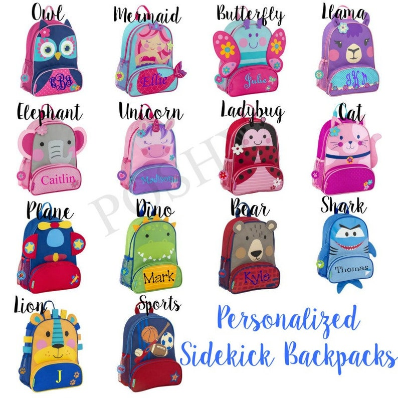 Monogrammed Kids Backpack  Personalized Toddler Backpack image 0