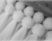 Tulle Pew Bows, 30 COLORS, Quinceanera, Church Pew, White Bows, Ivory, Traditional Pew Bows, Formal Wedding Decoration, Aisle, Chair Hangers