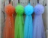Pom Pew Bows with Pearls, OVER 20 COLORS, Wedding, Baby Shower, Tulle Bows, Aisle Decor, Quinceañera, Church Decor, Pew Bows, Formal Wedding