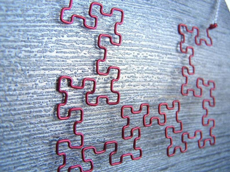 Fractal Necklace  Red Fibonacci Word Fractal image 0