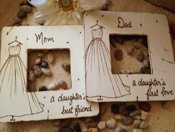 Set Of 2 Wedding Gifts For Parents Of The Bride Mom And Dad Etsy