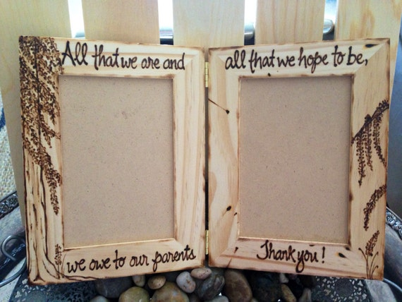 Gifts For Parents Wood Frames Wedding Engagement Birthday Etsy
