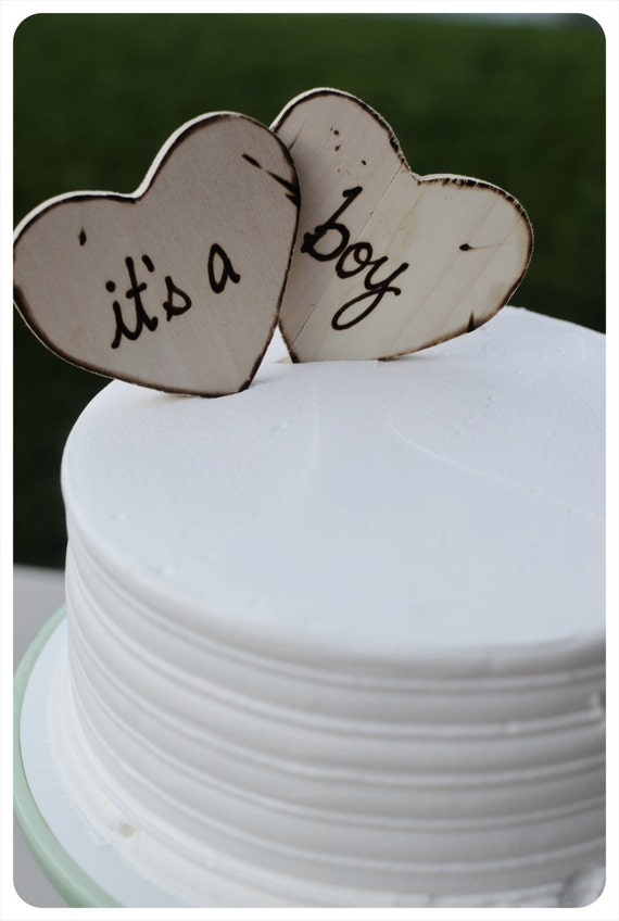 Baby Shower Custom Cake Toppers For Rustic Woodland Barn Etsy
