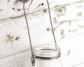 Rustic Regular Canning Jar Black Wire Hanger DIY Crafts Folk Primitive