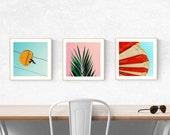 art prints mid century modern beach art palm tree wall art - bright modern photography art prints