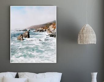 Big Sur Blues // Big Sur photography, Big Sur Art, photograph or canvas, huge framed or unframed / CUSTOM SIZES