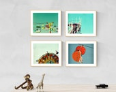 wall art nursery nursery decor nursery prints wall art for nursery girls room boys room - Boardwalk Baby, set of four art prints