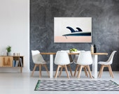 surf art surf decor surfer wall art surf photography surfer girl beach house modern - Ocean 39 s Roar float framed canvas art