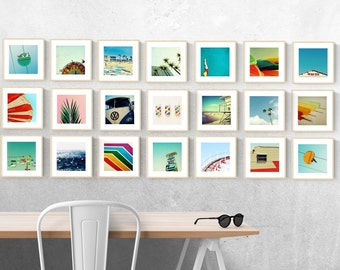 photography wall art set // photography print set // summer photography set - Sunshine in Box // Set of 21 art prints, 8x8 inch