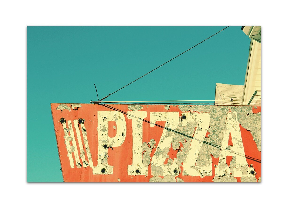 food art // pizza art print // kitchen art print // food   Etsy