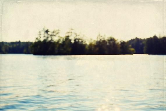 & abstract art print // serene wall art // maine lake photograph