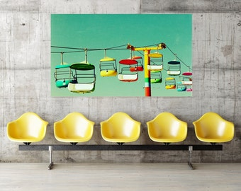 huge wall art // oversized art / large art / huge custom art - Summer of 67, 40x60 photograph giclee on canvas art