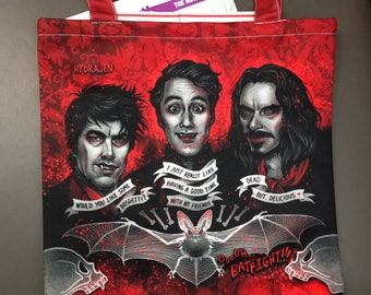 Vampire- TOTE BAG - What We Do in the Shadows - goth bag - halloween bag