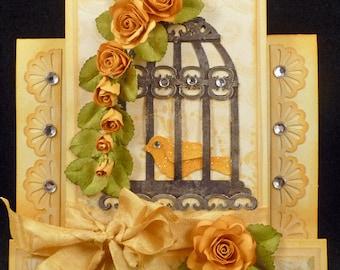 Handmade Birdcage Card