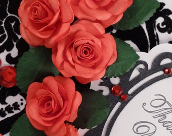 Regal Rose SVG Cut Files, Silhouette Studio 3 files, PDF Templates, and Instructional video for making handmade paper roses