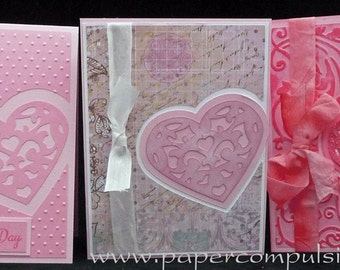 Hole Heart A2 Card SVG cut files and templates for digital die cutting