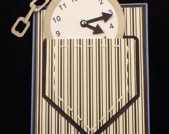 Pocket Watch Card with Pocket SVG's, Cut Files, and Templates