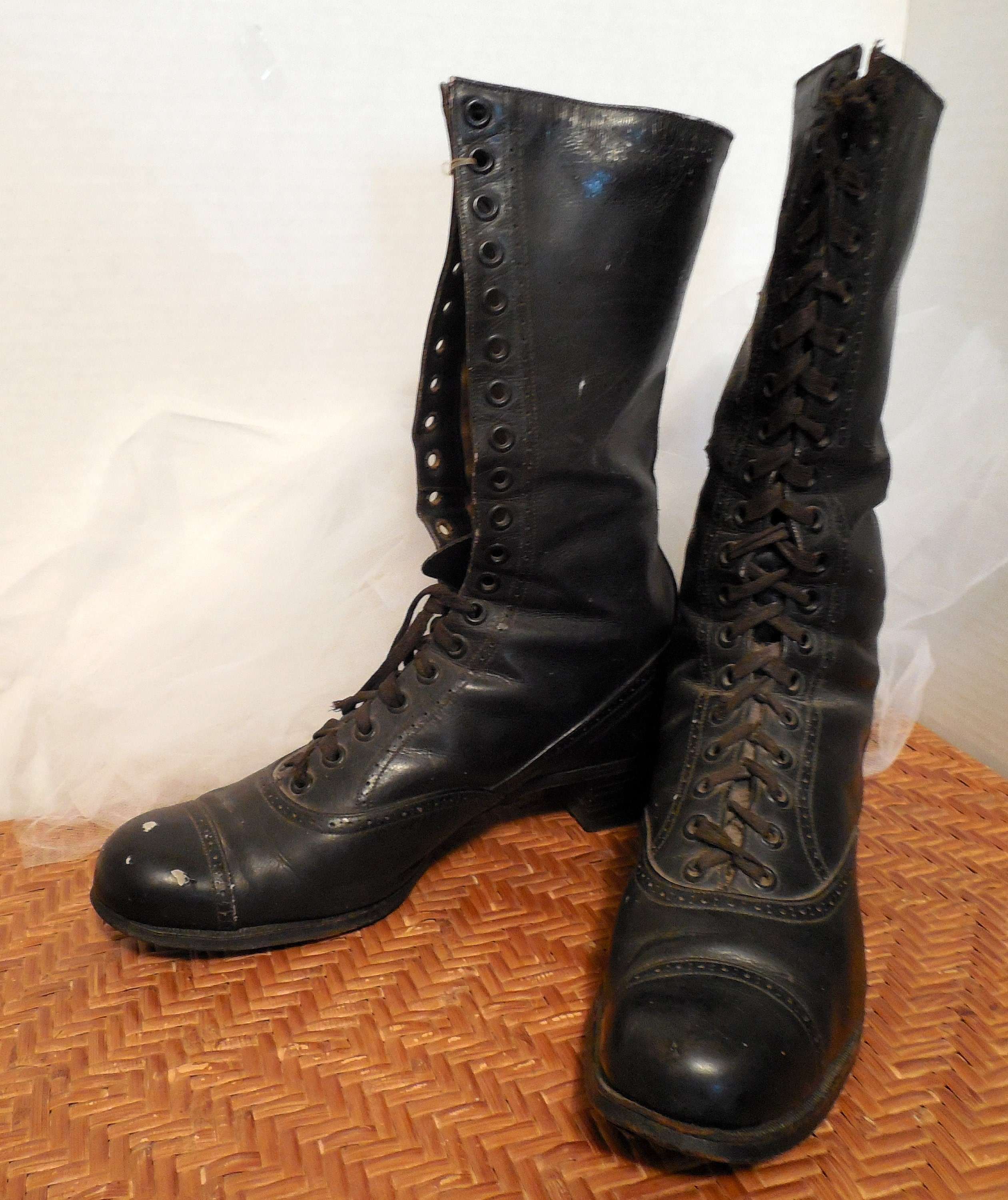 e4a011e4a4a97 Antique Ladies Lace-Up Boots, Vintage Ladies Boots by Diana, AS IS  Condition, Display Boots, Witch Boots, Haunted House Decor, Show & Tell