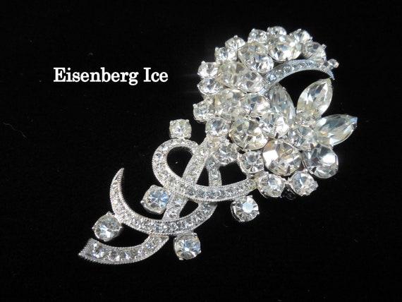 Eisenberg Ice, Eisenberg Brooch, Mid Century Eisen