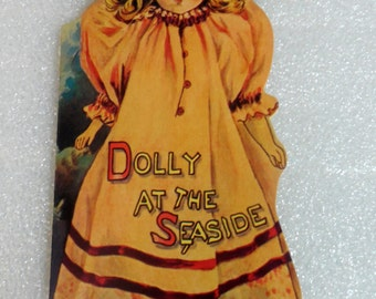 Dolly At The Seaside Book, 1983 Merrimack Reproductions/Boston Children's Museum. 1900's Children's Illustrations and Poems, Merrimack 1983