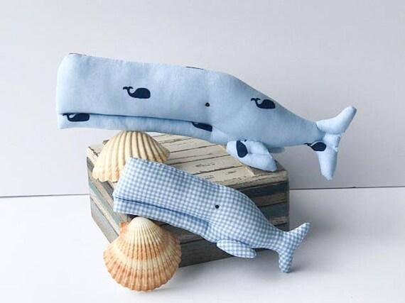 White whale toy plush softie BIG stuffed whale handmade child friendly baby pillow toy fish nautical nursery decor baby shower gift