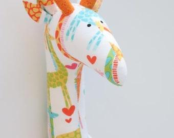 Stuffed giraffe plush softie cute giraffe toy orange white yellow toy for little children for girl boy birthday