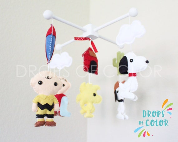 Peanuts Charlie Brown Mobile by dropsofcolorshop