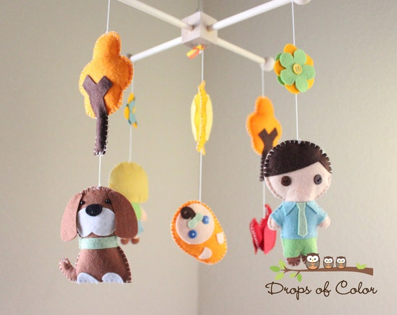 Baby Crib Mobile Baby Mobile Your Own Family Mobile Pets Etsy