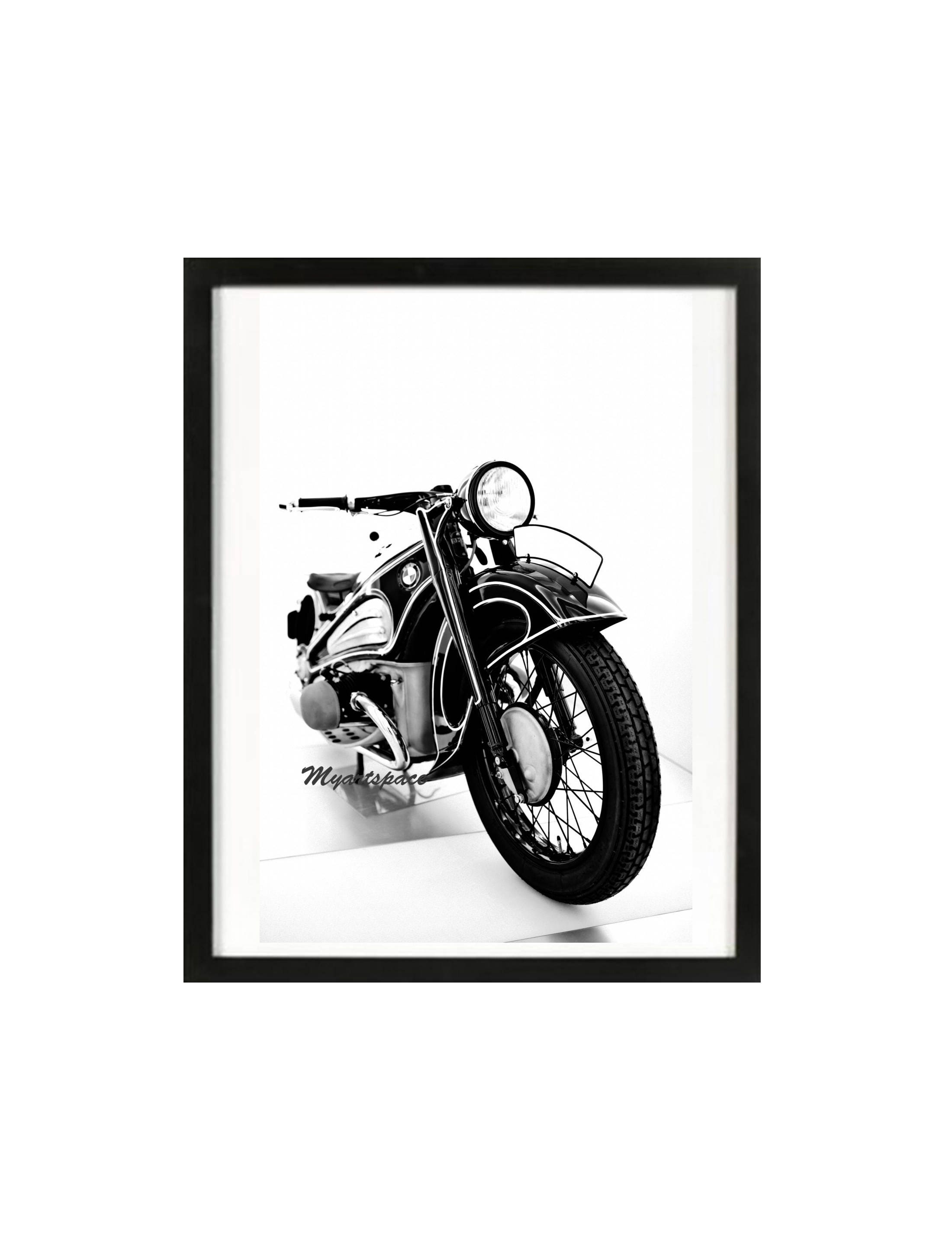 BMW Classic Bike Black white print modern decor 1966 R60 2