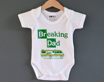 51276a08159f Breaking Dad Baby Onesie (Romper   Babygrow   Bodysuit) Alternative new baby  gift for Breaking Bad fans.