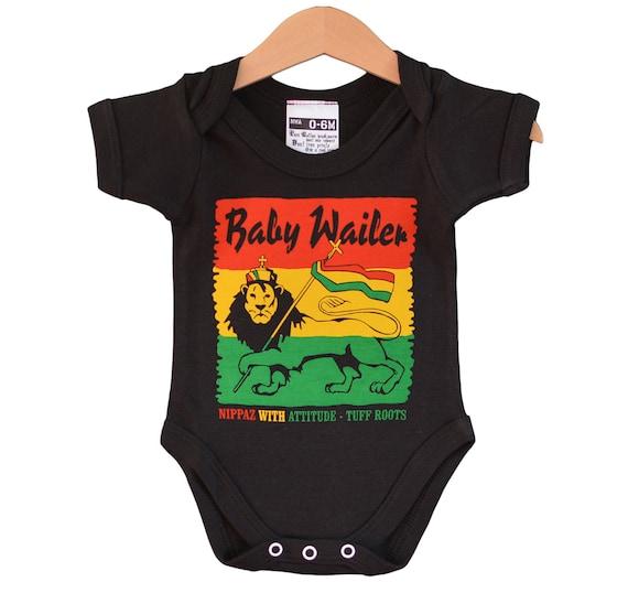 cadeau naissance reggae musique jamaïque Body Bébé Bob Marley portrait