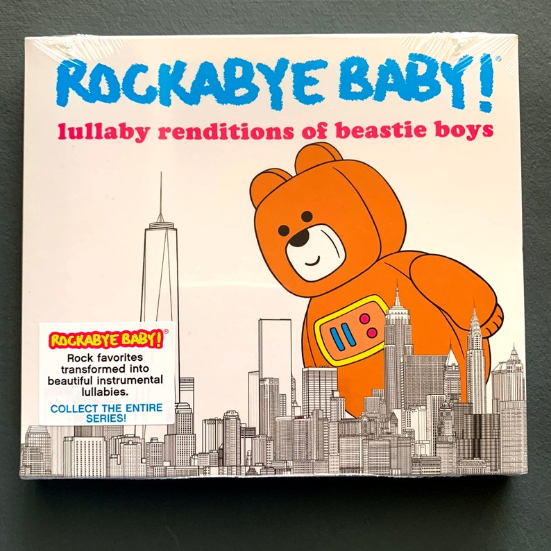 Beastie Boys Lullaby Baby Music CD  Instrumental lullaby songs for the  nursery  Funny newborn baby gift