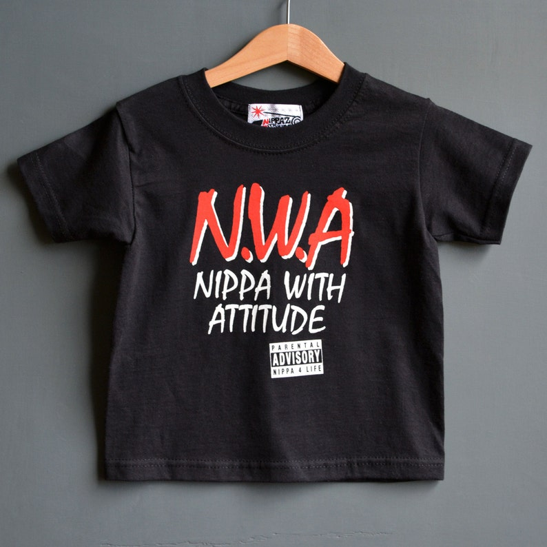 a8379773 Nippa With Attitude Baby T-shirt. NWA Toddler Tee. 1-2 years | Etsy