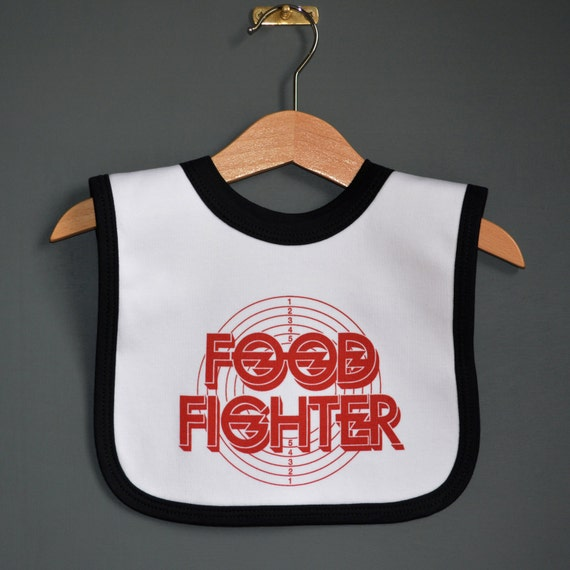 6d79a08d8 Food Fighter rock baby bib. Cool new baby gift for Foo | Etsy