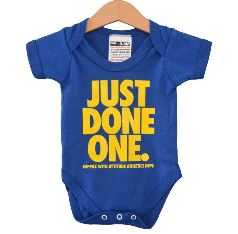 ec079973f Just Done One Blue Baby Onesie Romper / Babygrow /   Etsy