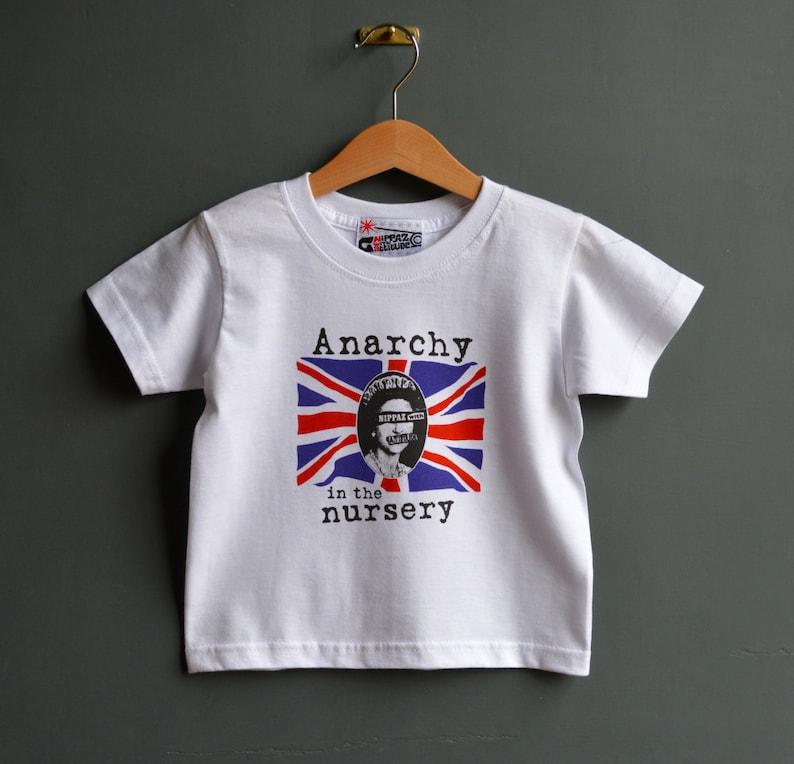 f878b91b8290 Anarchy in the Nursery kids punk tshirt. Alternative toddlers