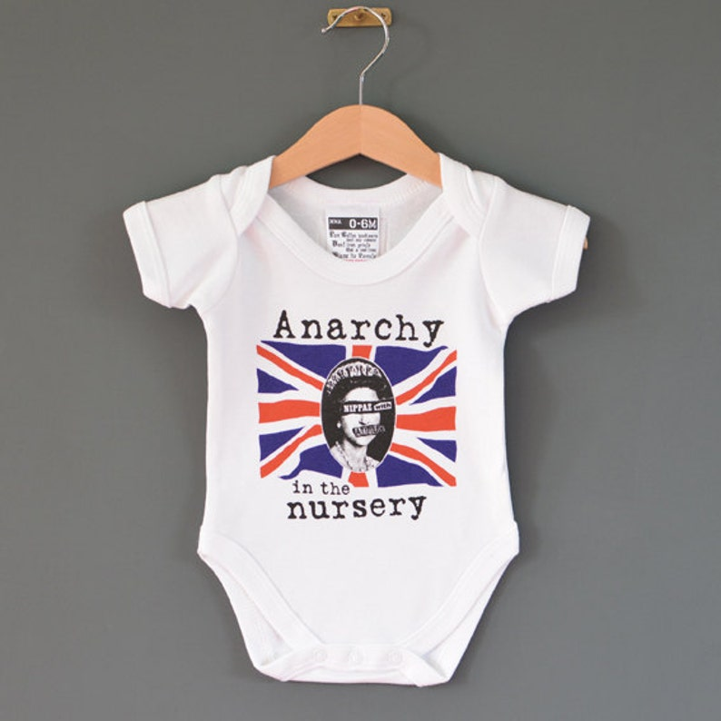 b11094f81 Punk baby Anarchy in the Nursery baby onesie. Alternative