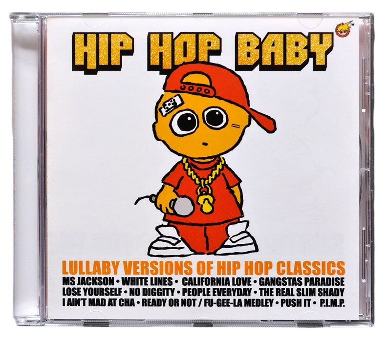 Hip Hop Baby Music CD  Hip Hop lullaby instrumental songs for the nursery   Funny baby music present for a rap fans